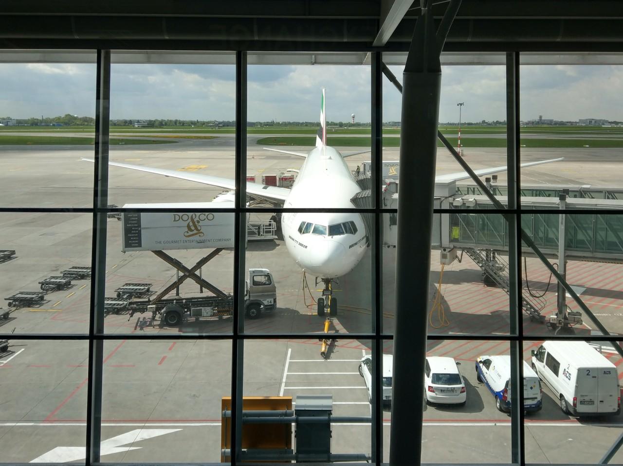 Emirates Boeing 777-300ER - Lotnisko Chopina - Chopin Airport