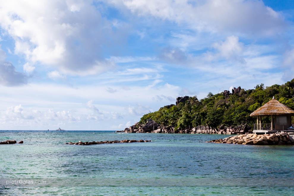Hotel La Domaine de LOrangeraie, widok od strony oceanu