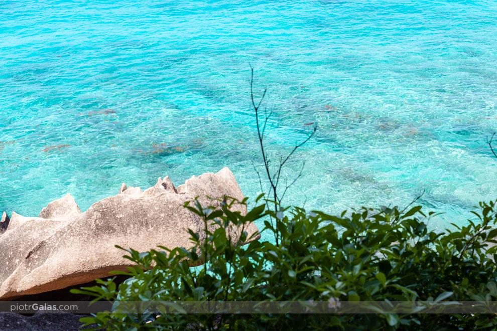 Plaża Anse Patates i turkusowa woda