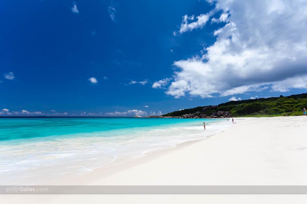 Widok na Ocean Indyjski i plażę Grand Anse