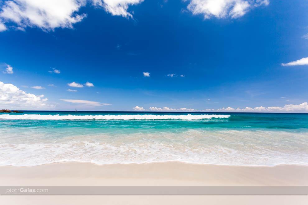 Widok na Ocean Indyjski z plaży Grand Anse