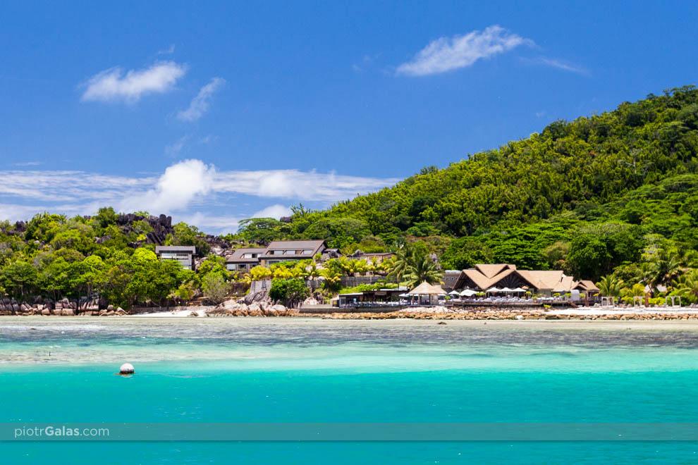 Widok na plażę Anse Patates
