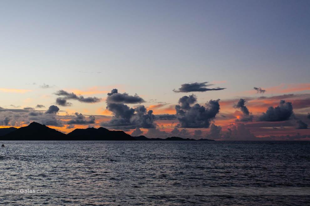 Zachód słońca nad Praslin