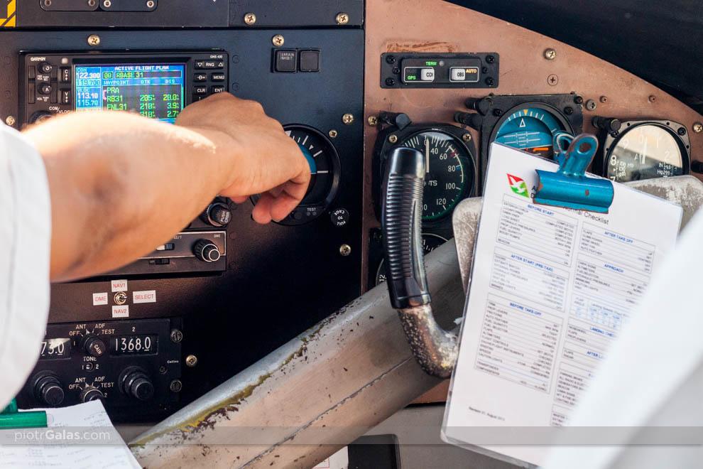 Widok kabiny pilota