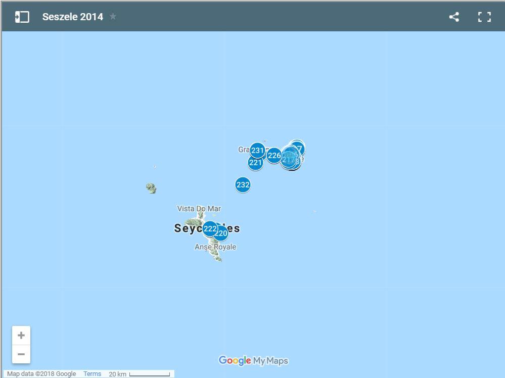 Seszele 2014 - mapa Google